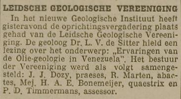 Nieuwe Leidsche Courant - oprichting LGV 26 april 1933