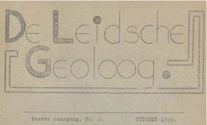 De Leidsche Geoloog 1933 Eerste jaargang no. 2