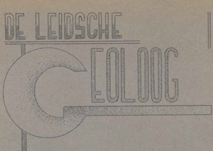 De Leidsche Geoloog 1937 vierde jaargang no. 1