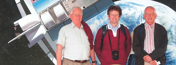 Hans, Martyn Drury en Charles Arps, op bezoek bij NASA, Houston 2006