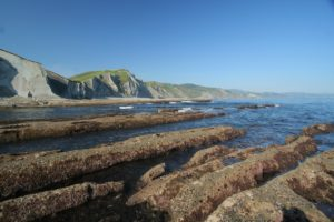 This distinctive formation of nature is called 'flysch', which is the distinguishing feature of the whole coastline