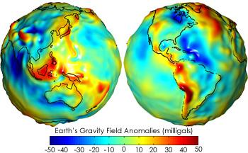Earth Gravity Field Anomalies